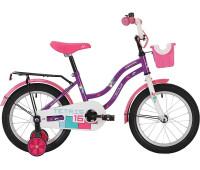 """Велосипед NOVATRACK 12"""" TETRIS фиолетовый,тормоз нож.,крылья цвет.,багажник чёрн"""