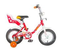 """Велосипед NOVATRACK 12"""" MAPLE, красный, полная защита цепи, тормоз нож, крылья ц"""