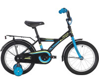 """Велосипед NOVATRACK 20"""" FOREST чёрный, тормоз нож, крылья, багажник, защита А-тип"""
