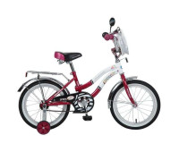 "Велосипед NOVATRACK 16"",Z, Зебра, бордово/белый"