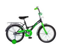 """Велосипед NOVATRACK 18"""", STRIKE, черный-зелёный"""