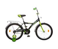 """Велосипед NOVATRACK 20"""" ASTRA чёрный, тормоз нож, крылья и багажник хром, защита"""