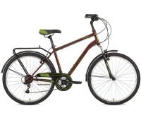 "Велосипед Stinger 26"" Traffic 18""; коричневый; TZ30/TY21/TS-38"