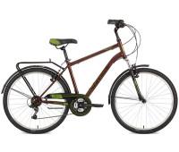 "Велосипед Stinger 26"" Traffic 20""; коричневый; TZ30/TY21/TS-38"