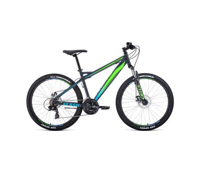 Велосипед 26' Forward Flash 26 2.2 S disc Серый матовый/Ярко-зеленый 20-21 г