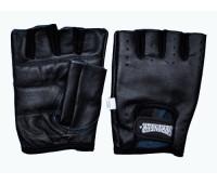 Перчатки для тяжёлой атлетики без пальцев, кожа. Размер L.
