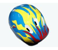 Защитный шлем для роллеров, велосипедистов. Материал: пластмасса, пенопласт. :(6К):