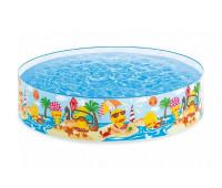 "Детский каркасный бассейн ""Утёнок"", 122*25 см INTEX"