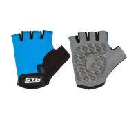 Перчатки STG детск.летние с защитной прокладкой,застежка на липучке,размер XS,синие